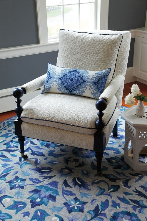 Island Chair In Hammock Cerulean Blue | Fine Furniture, Chairs And Chaises  From Company C (New)