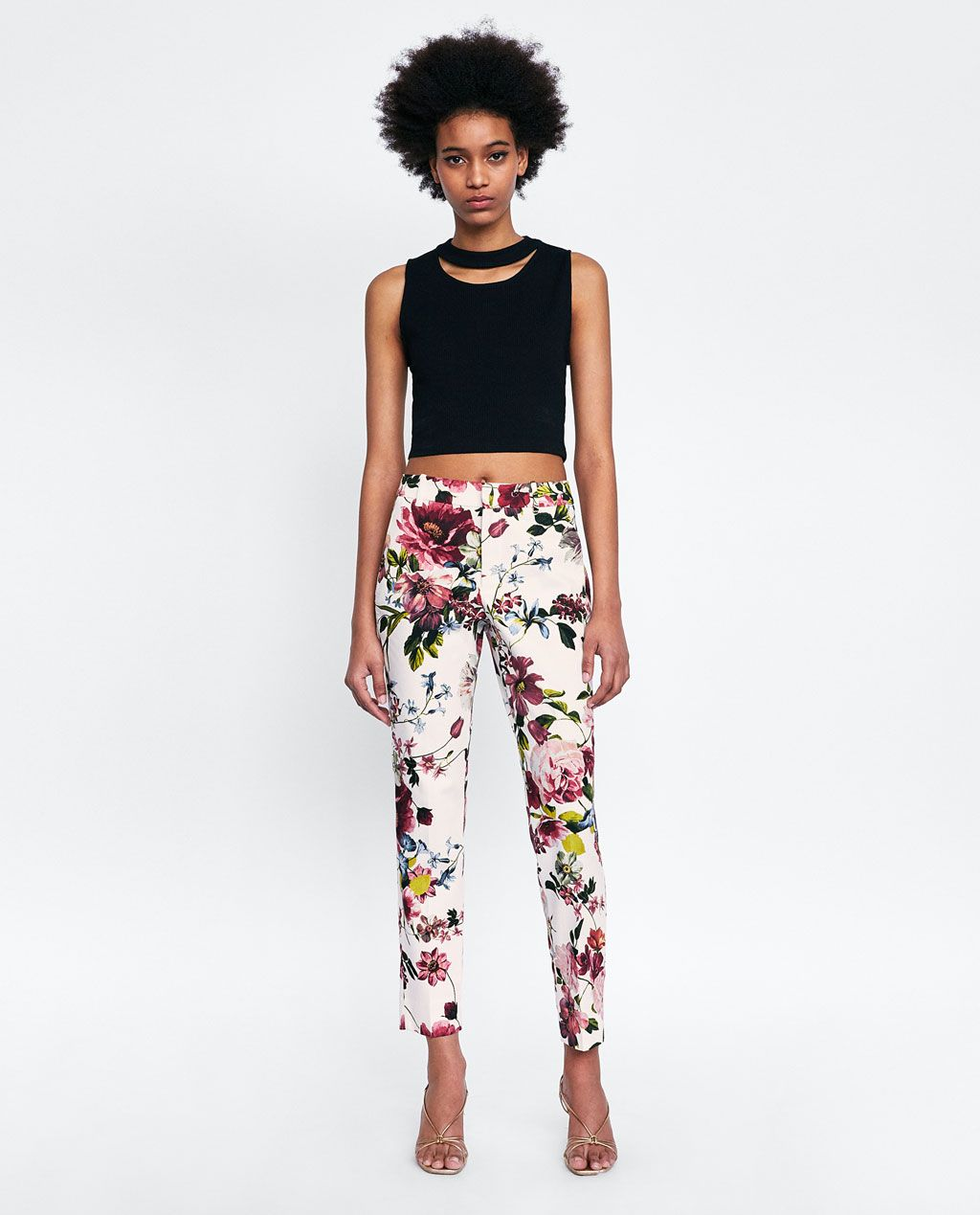 817deec3 Image 1 of FLORAL PRINT CHINO PANTS from Zara | young queer ...