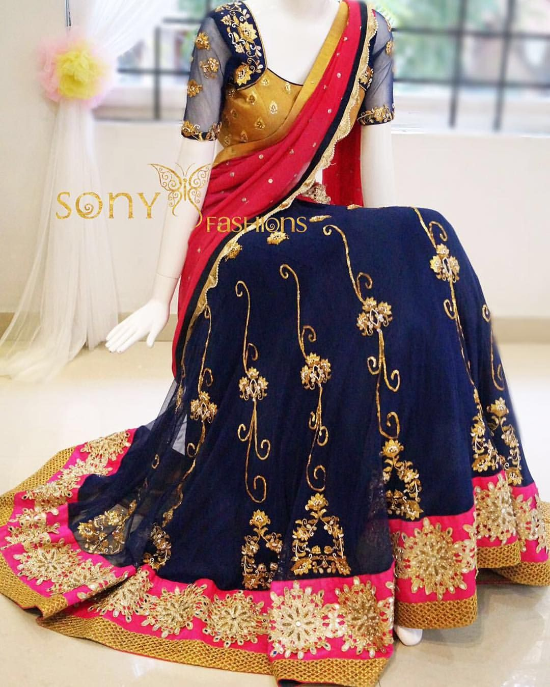 Modern half saree blouse designs elevate ur wardrobe with these pretty couture  royal ethnic