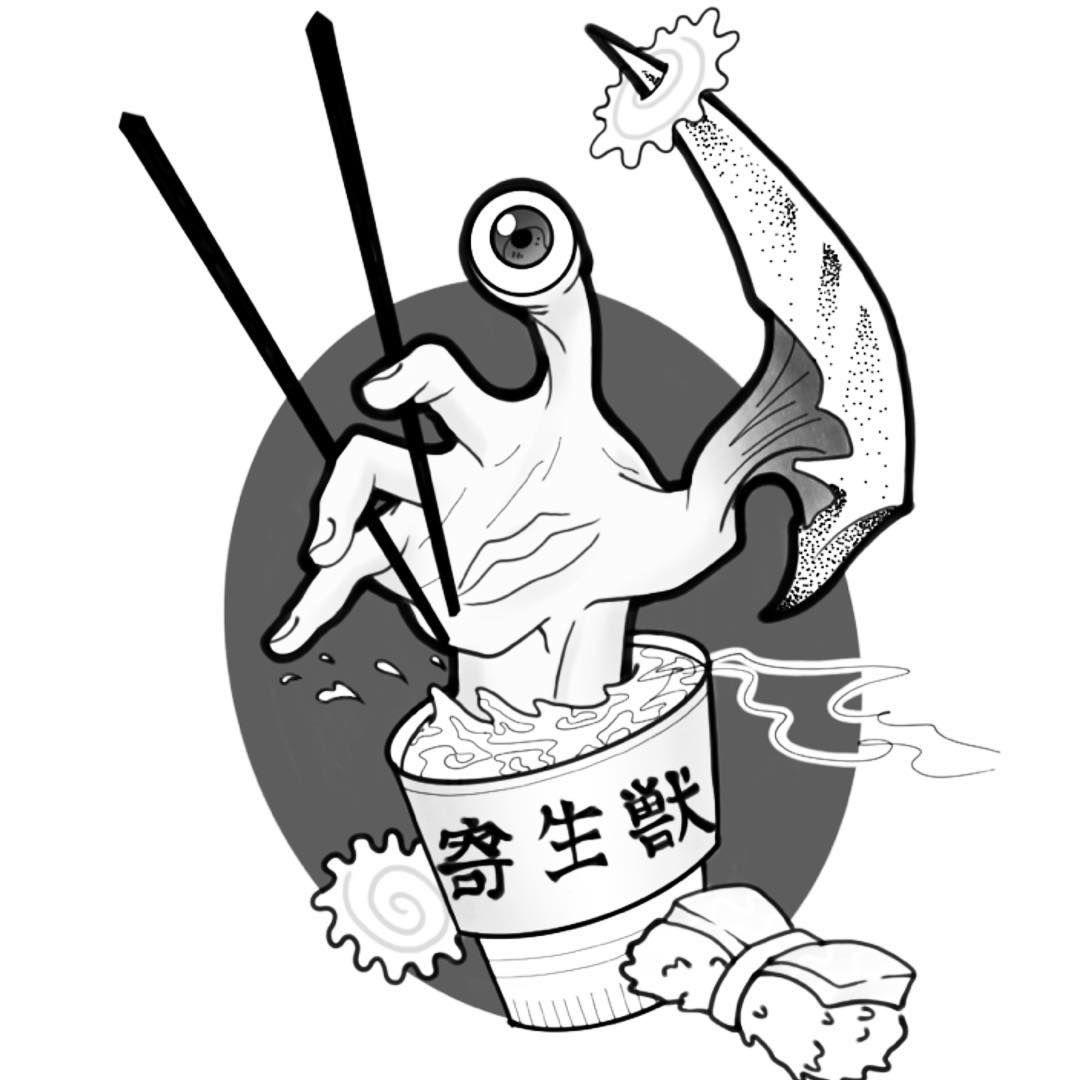 Parasitekiseju flash tattoo cartoon tattoos anime