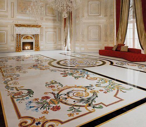 Classic interiors luxury budri italian marble inlay for Arredamento case di lusso interior design