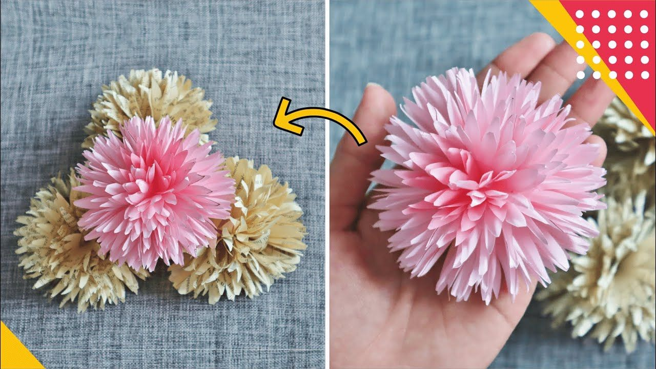 Tutorial Membuat Bunga Origami Paling Unik Pompom How To Fold Pompom F Bunga Kertas Origami Bunga