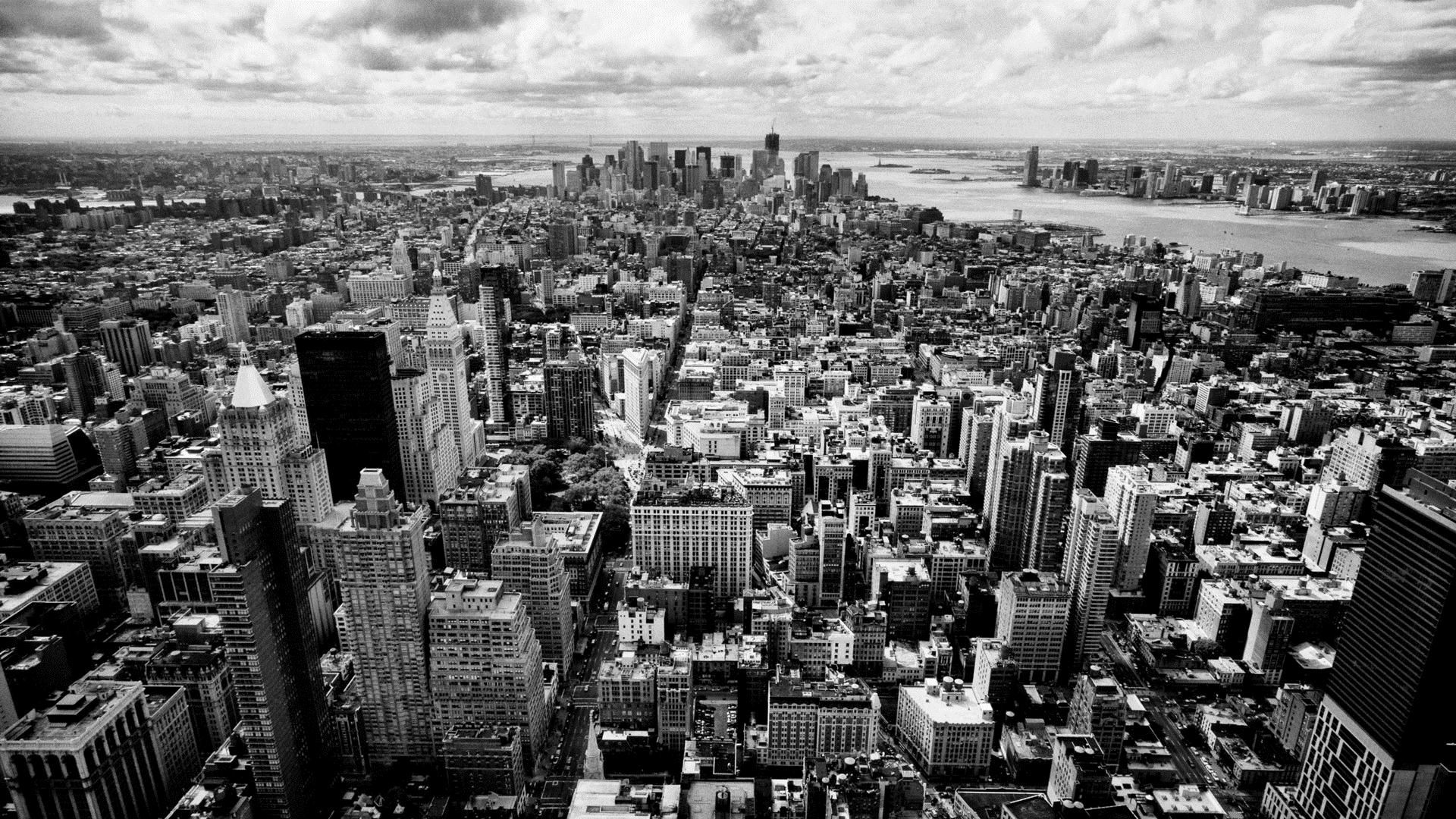 Black And White City Wallpapers Wallpaper Cave New York