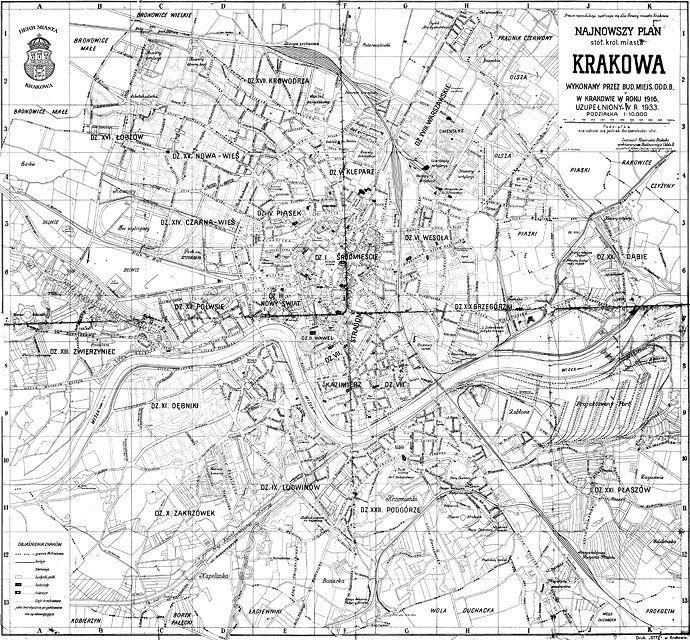 Przypadki Adama S Stare Mapy Krakowa I Okolic Stare Mapy