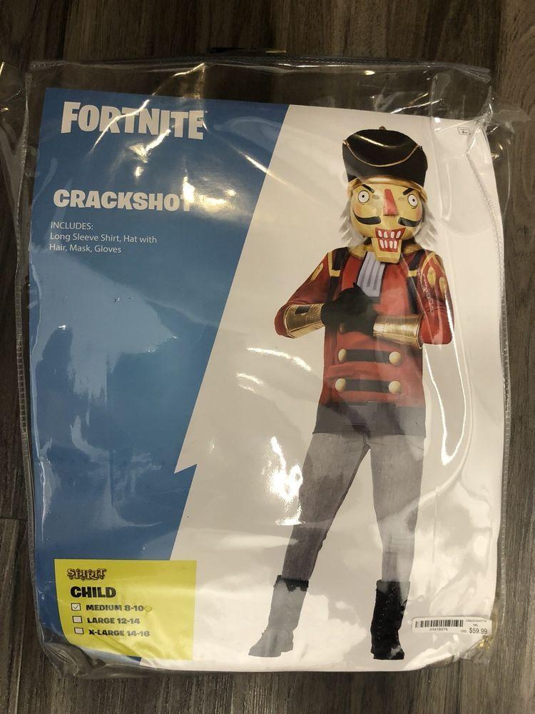 Fortnite Crackshot Costume Spirit Halloween Child Medium 8 10