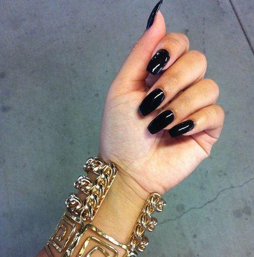 Ongles vernis (noir)