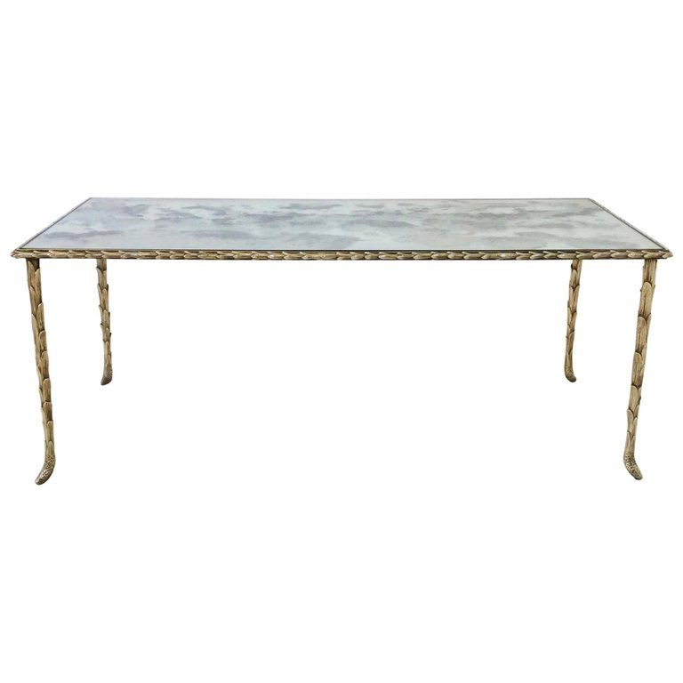 Gilt Bronze Coffee Table By Maison Bagues Circa 1950 France