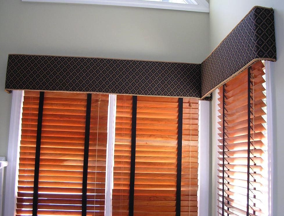 Windowtreatments Hard Cornices Over Wood Blinds With