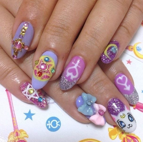 Sailor Moon Nails Kawaii Nail Art Sailor Moon Nails