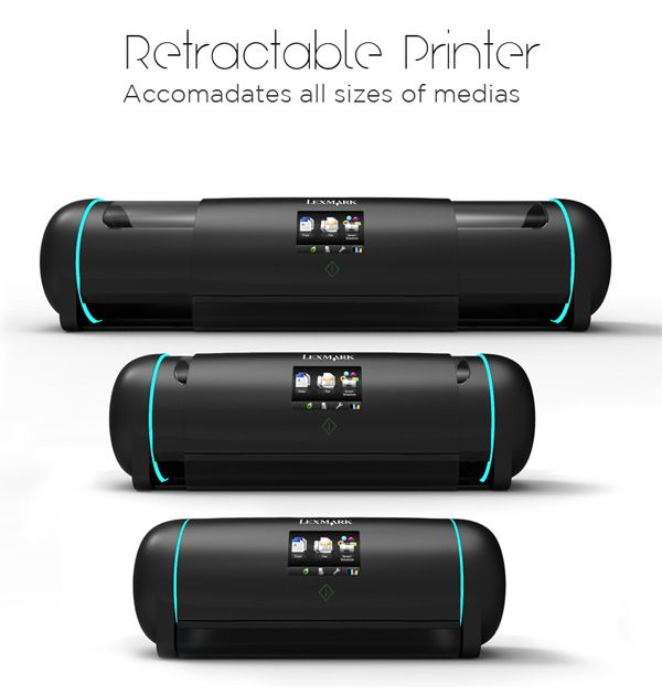 Retractable Printer by Neilson Navarrete - A retractable printer that is adjustable to the…