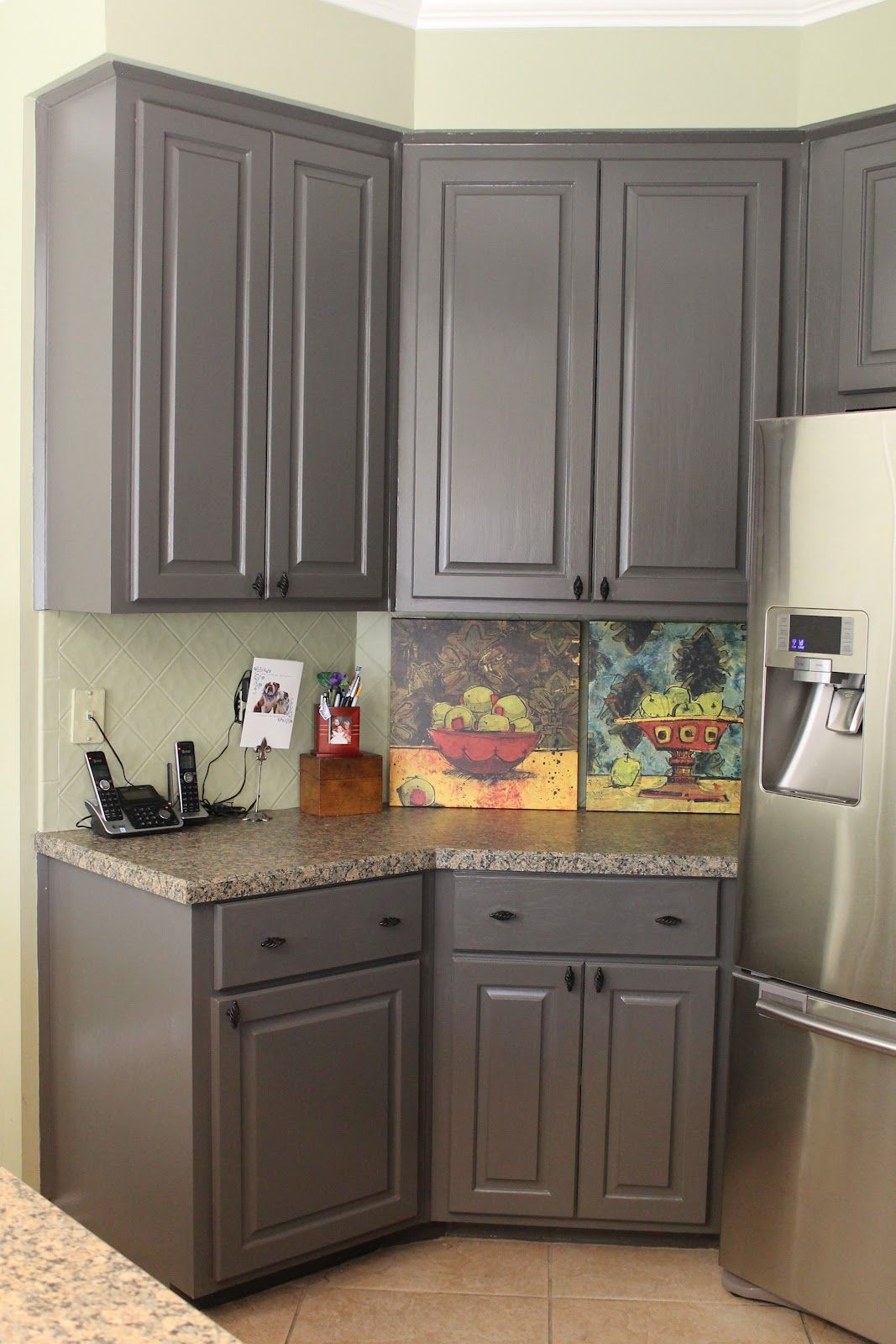Kitchen cabinets painted dark grey - Painting Kitchen Cabinet Hardware Kitchen