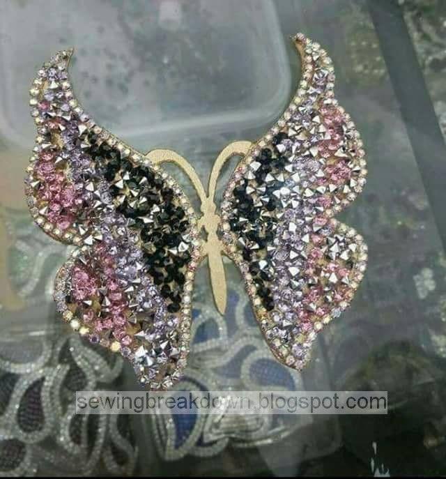 كيفية صنع رشمة الفراشة لتزيين القنادر بالخطوات خياطة و تفصيل How To Make Butterfly Butterfly Sketch Brooch