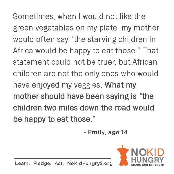 A Great Quote From The Go Orange For No Kid Hungry Essay Contest Learn More Www Nokidhungry2 Org Goorange Inspirational Quotes About Africa African American History Child