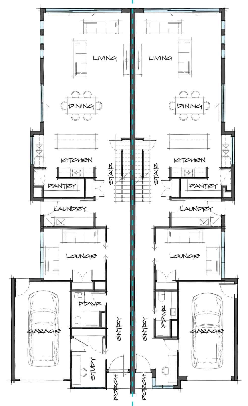 90 0 Lot Line Plans Ideas Dual Occupancy House Plans Floor Plans