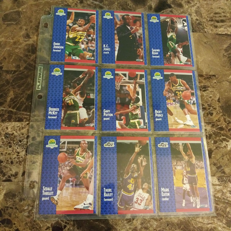 Rare 1991 Fleer Basketball Collector 8Card Set Seattle
