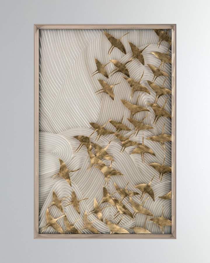 John Richard Collection John Richard Collection Robot S Birds In Flight Wall Art Handcrafted Wall Art Robot Bird Art Pricing