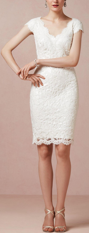 Bloomshine Dress Lace White Dress Lace Dress Short Wedding Dress