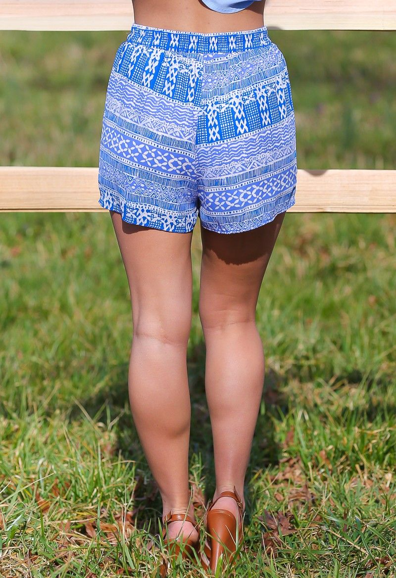 EVERLY:Lifeguard Off-Duty Shorts-Periwinkle - $34.00