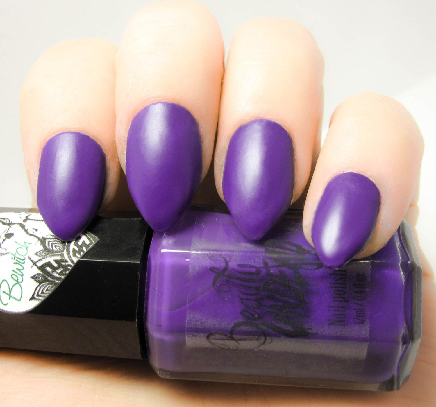 Bewitch - Dark Matte Purple Nail Polish by BeautyUndead on Etsy ...