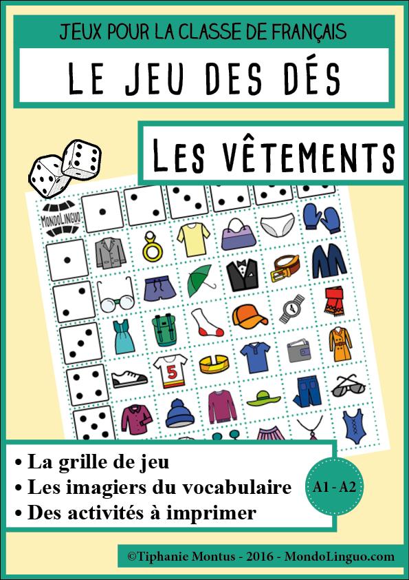 Beliebt JDD - Les vêtements | Mondolinguo - Français | FLE: Vêtements  EL47