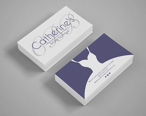 Business Cards For Catherine S Bridal Boutique