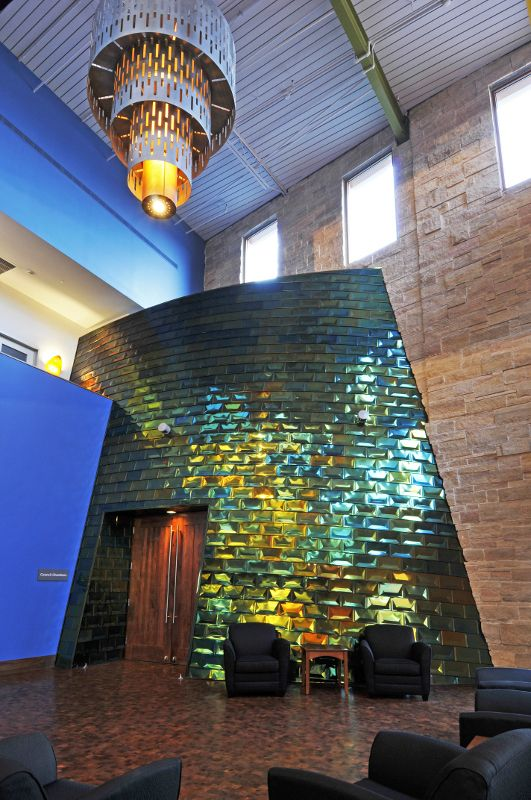 Pin By Millennium Forms On Millennium Cupped Tile Exterior Wall Panels Green Architect Copper Roof