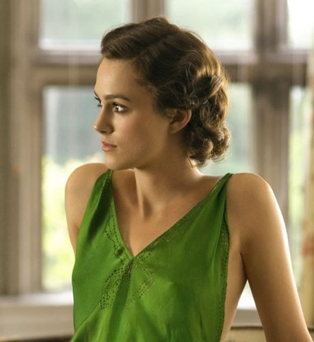 Keira in the green dress that made me want to live in the 1930s.