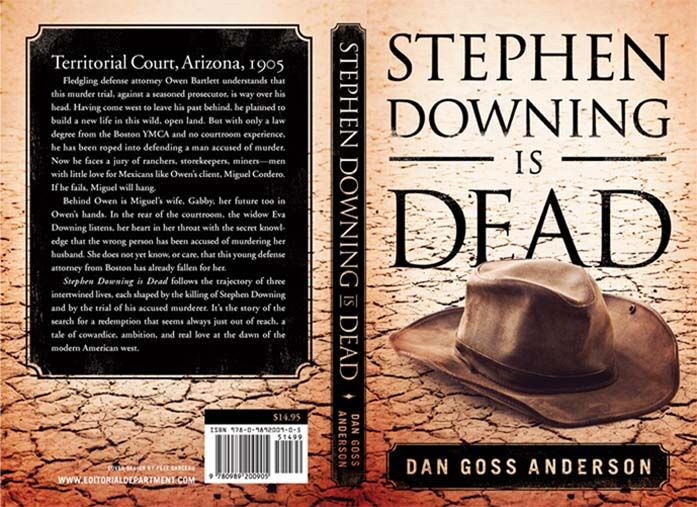 Cover a Dan Goss Anderson novel, a historical fiction.