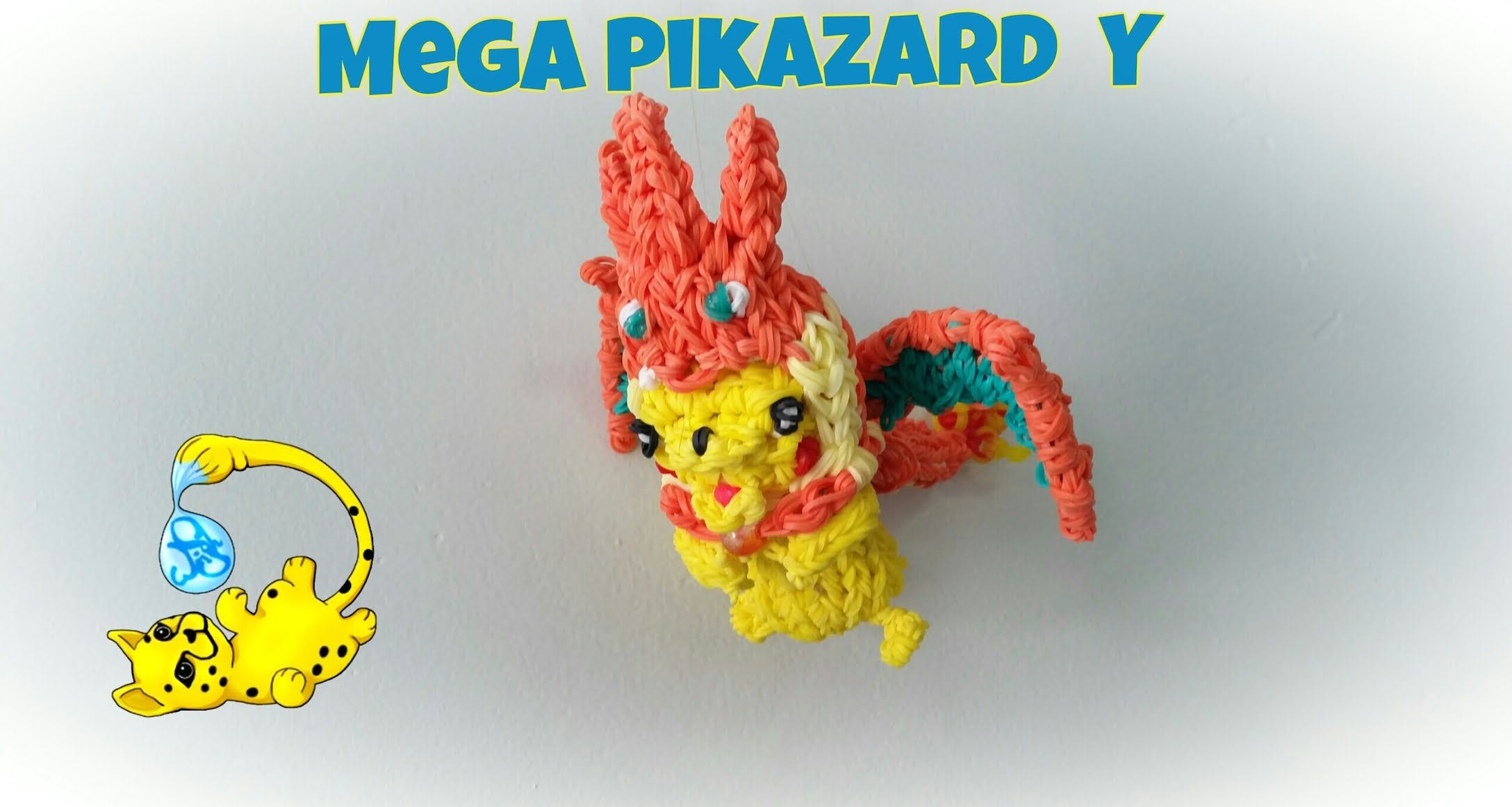 Rainbow Loom Pikazard Y Costume (Part 1/3)