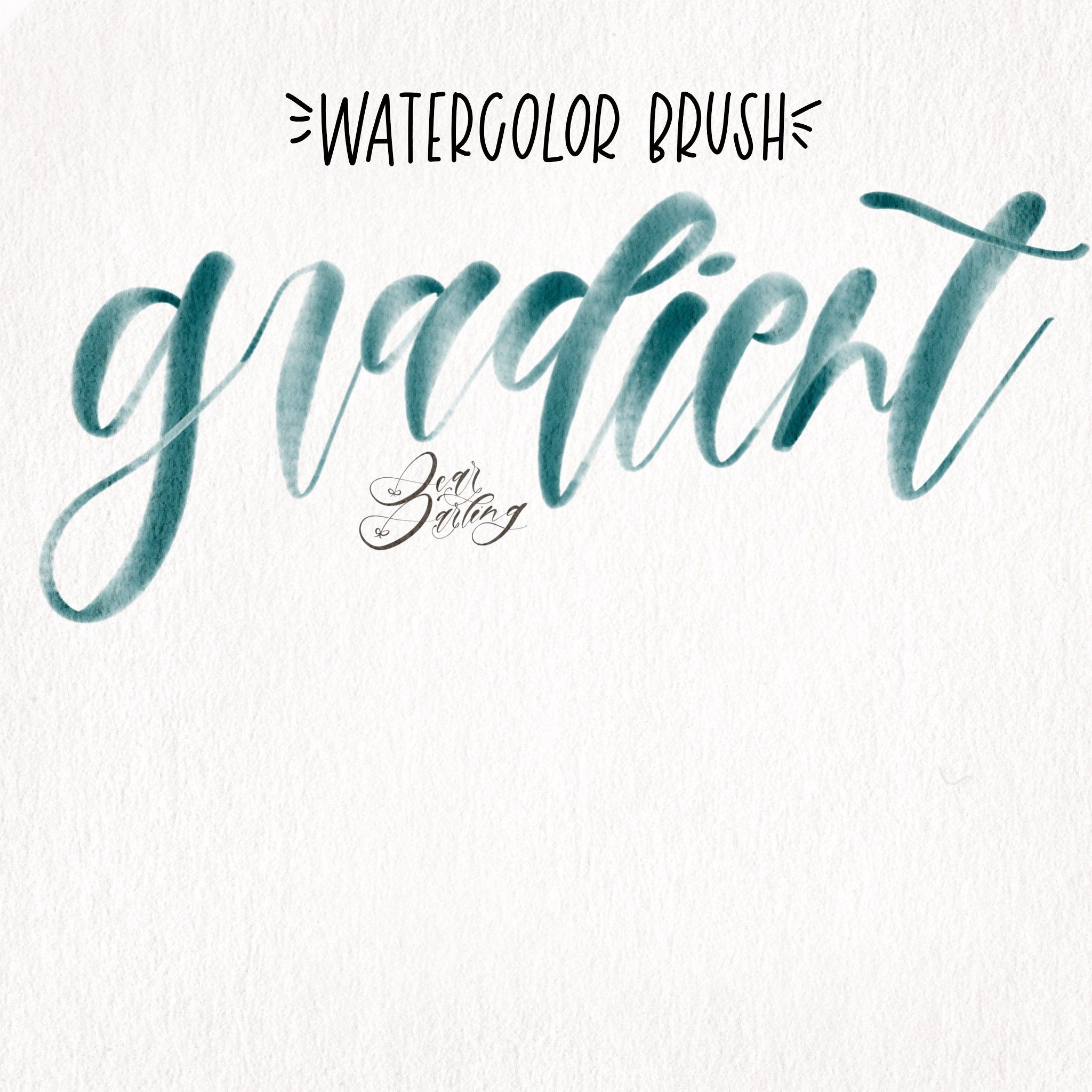 Procreate Watercolor Gradient Brush Watercolor Lettering