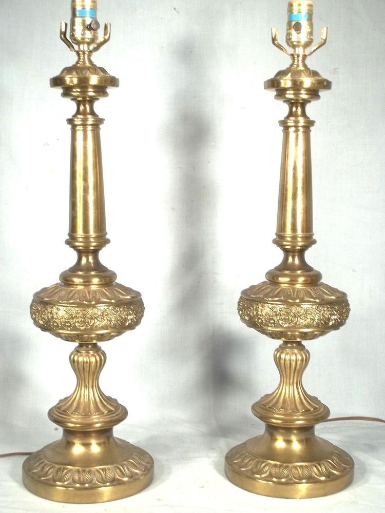 OVERSIZE PAIR OF MID CENTURY JAMES MONT BAROQUE EMBOSSED
