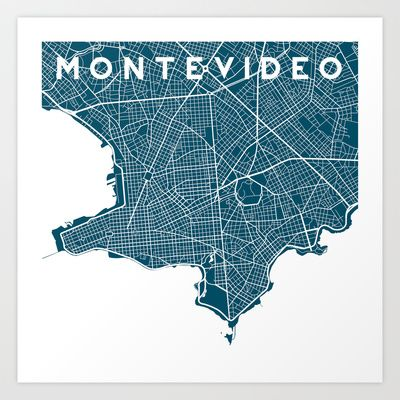 Montevideo City Art Print by Studio Tesouro Maps Pinterest - print resume