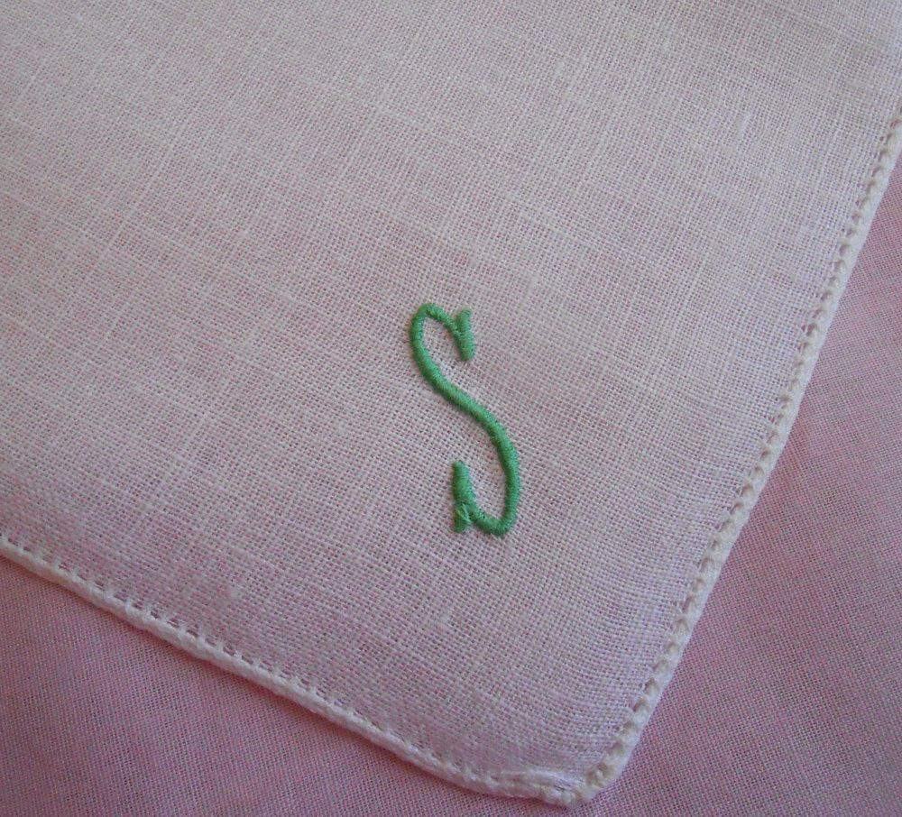 P Monogram Vintage White Linen Hanky Yellow Embroidery Hemstitched Wedding Handkerchief Gift Hankie Letter P Something Old Tears of Joy
