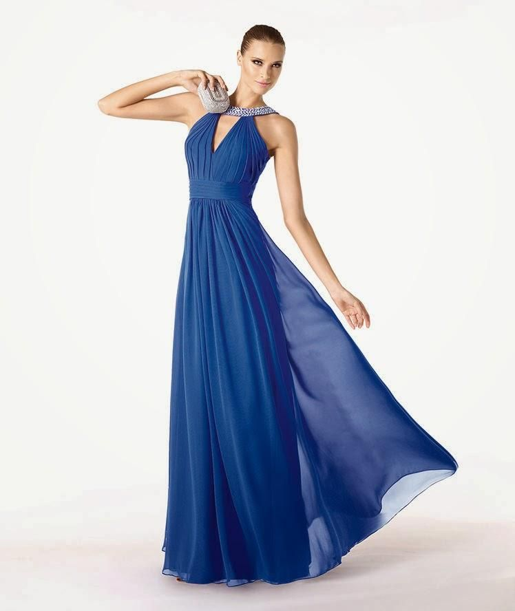 e8a0c4fbce86 Vestidos de fiesta azul klein de Pronovias en 2019 | VESTIDOS AZUL ...