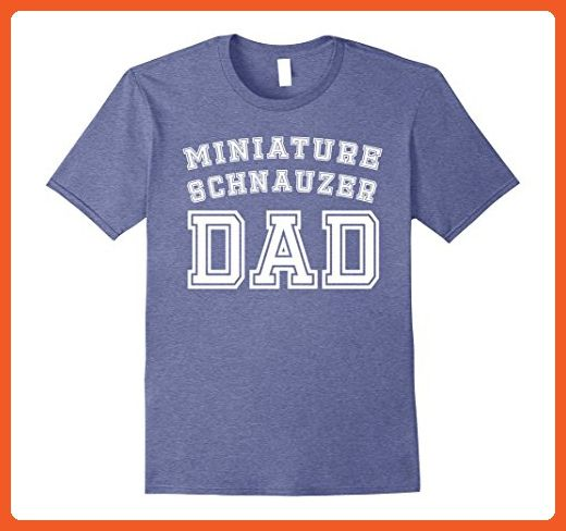 9a48970b Mens Miniature Schnauzer Dad Father Pet Dog Baby Shirt Cute Funny 2XL  Heather Blue - Relatives and family shirts (*Partner-Link)