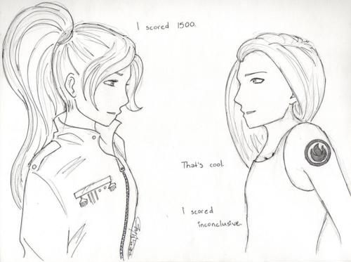 June and Tris from Legend and Divergent