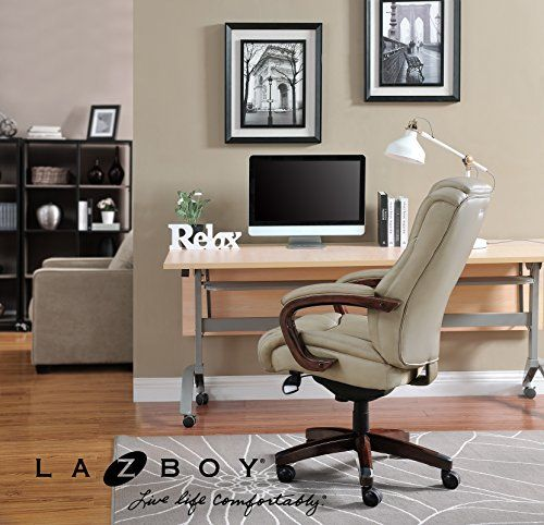 La-Z-Boy® 45835 Miramar ComfortCore® Traditions Executive Office Chair – Taupe  La-Z-Boy® 45835 Miramar ComfortCore® Traditions Executive Office Chair - Taupe Trusted Quality and Craftsmanship From a trusted brand known for quality, traditional craftsmanship and comfort, the La-Z-Boy Bellamy ComfortCore Traditions Executive Office Chair delivers advanced comfort technology for exceptional support and comfort at work and play.   The ComfortCore Plus with Memory Foam advanced layering ..