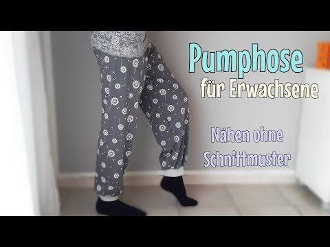 Pumphose für Erwachsene - Nähanleitung OHNE Schnittmuster - Für ...