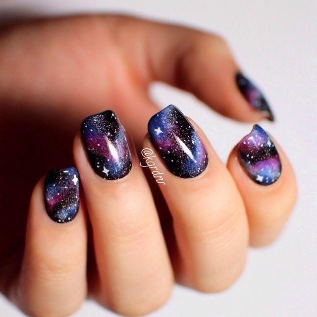 Galaxyspace Nails Instagram Media By Kgrdnr Nail Nails Nailart