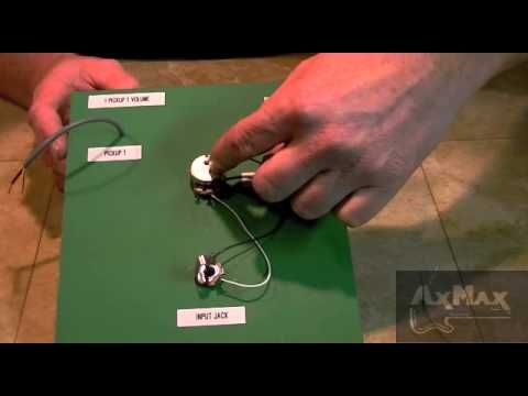 wiring electric guitar - 1 pickup 1 volume | Cigarbox Guitars ...