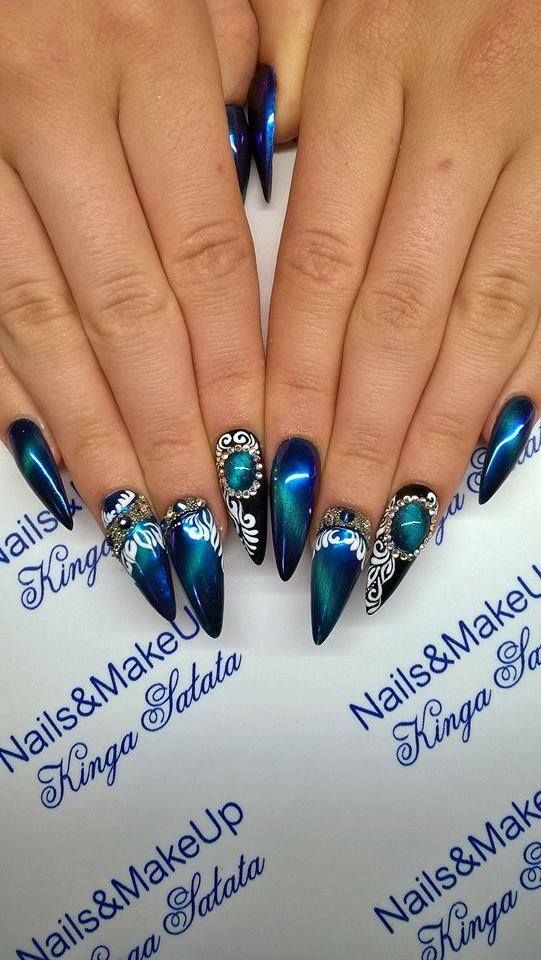 Stylization by Kinga Sałata for NC Nails Company - cat eye effect ...