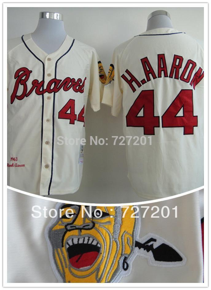 the latest 466c0 94af3 Online Cheap Wholesale Wholesale Cheap Atlanta Braves 44 ...