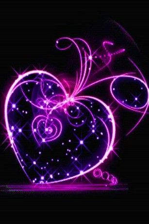 Purple Hearts Live Wallpaper For Android My Glorious World Of
