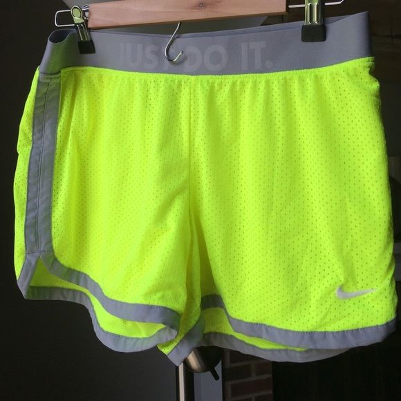 Neon green Nike mesh shorts Just do it waist, no lining Nike Shorts