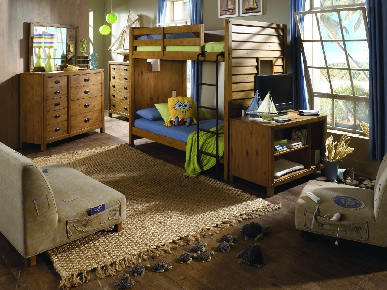 Mini loft bed with slide  Surf Collection  Nickelodeon Rooms  Pinterest  Kids rooms and Room
