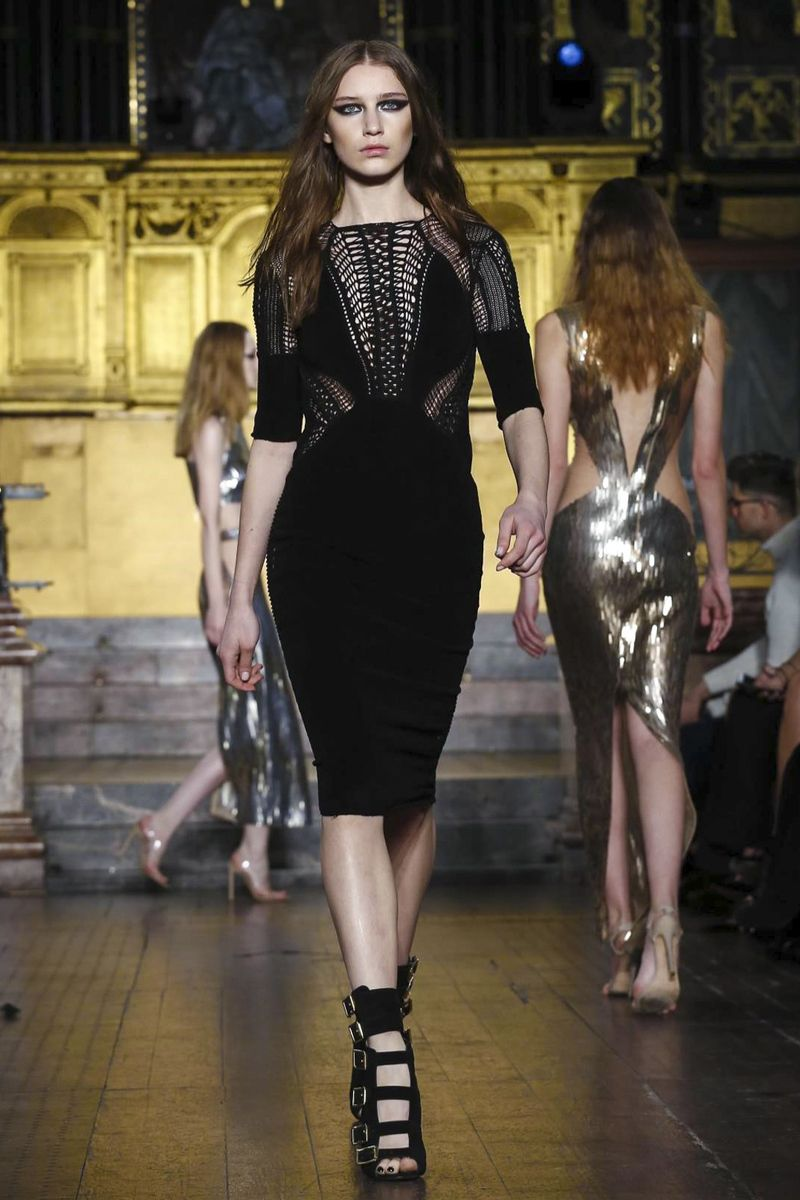 Julien MacDonald Fashion Show Ready To Wear Collection Fall Winter 2016 in London