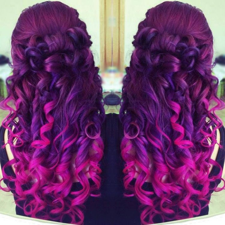 Related image Purple ombre hair, Purple hair color ombre