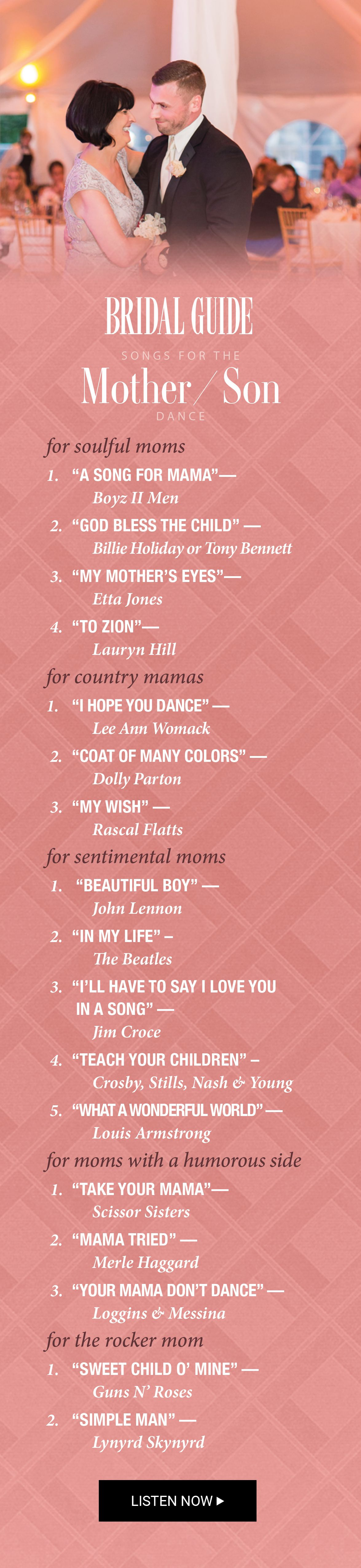 Songs For The Mother Son Dance