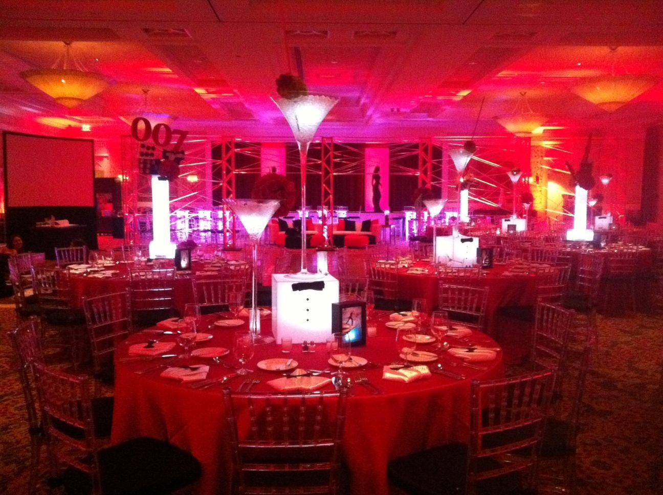 Tags bar and bat mitzvah event decor themes venues - James Bond 007 Theme Bar Mitzvah Event Decor Party Perfect Boca Raton Fl 1