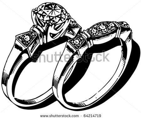 Engagement Ring Clip Art Black And White 30 Engagement Rings